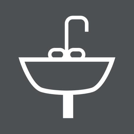 wash basin: wash basin Illustration
