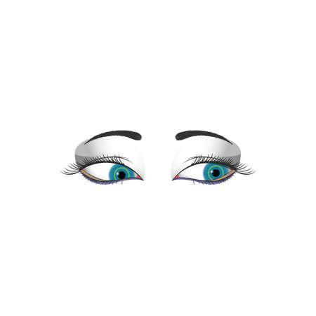 lash: womans eye Illustration