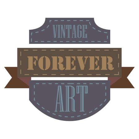 forever: forever art vintage label