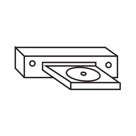 dvd player: dvd player Illustration