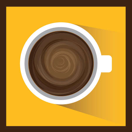 twirls: top view of a cup of hot coffee