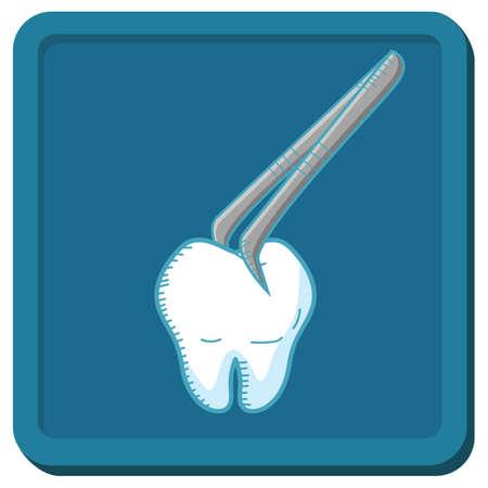 tooth with tweezers