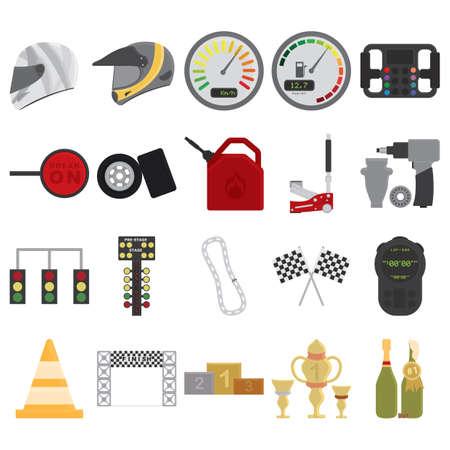 colección de equipos de carrera de coches