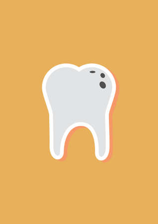 cavities: tooth with caries