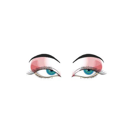 cornea: womans eye Illustration