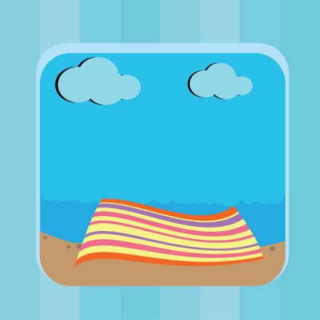 beach mat: mat on beach Illustration