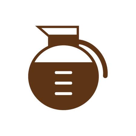 with coffee maker: coffee maker jug Illustration