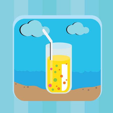 straw: glass with straw