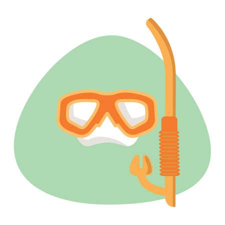 scuba: scuba mask and snorkel Illustration