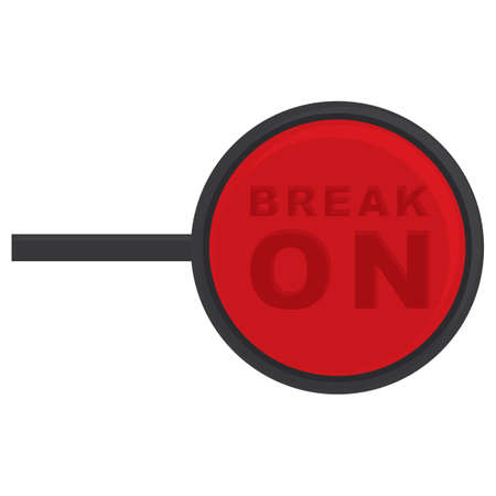 break: break on signboard
