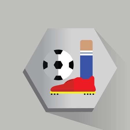 foot ball: foot kicking soccer ball