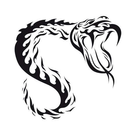tattoo design: python tattoo design