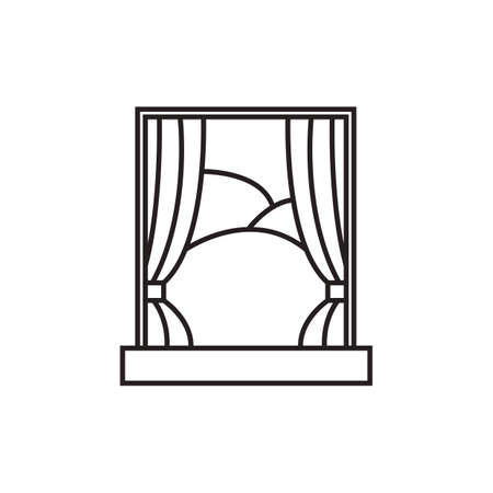 view window: view outside window Illustration