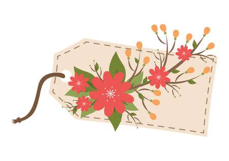 tag: floral tag