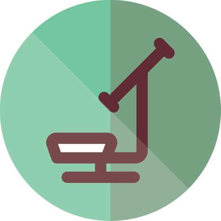 arm chair: dental chair