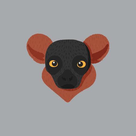 furred: red furred lemur