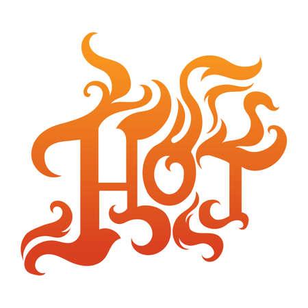 word: word hot Illustration