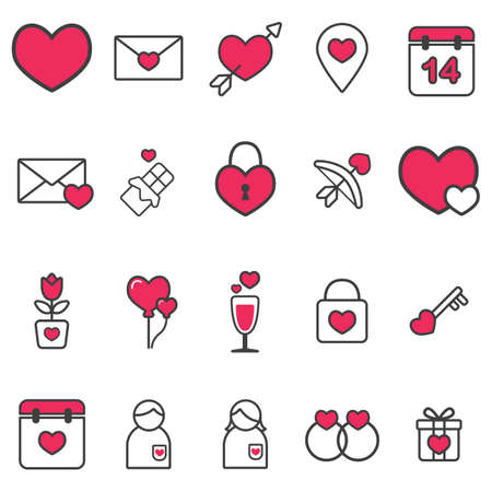 lovestruck: valentines day icons collection