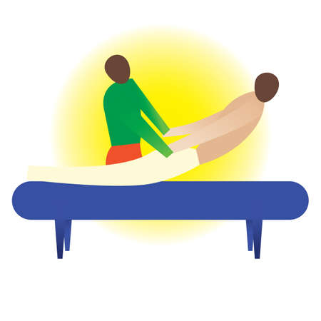 bend: therapist giving a back bend massage