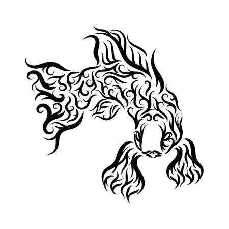 tattoo design: fish tattoo design Illustration