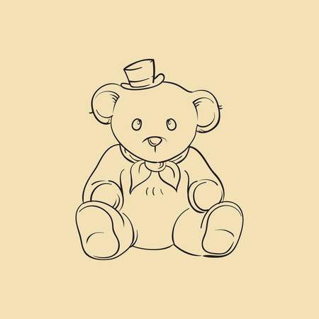 cuddle: teddy bear Illustration