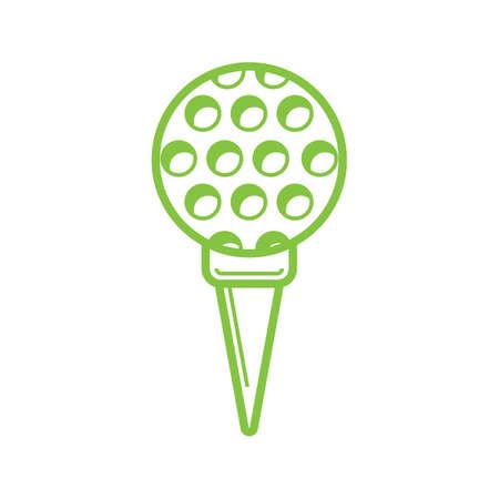 on tee: golf ball on tee