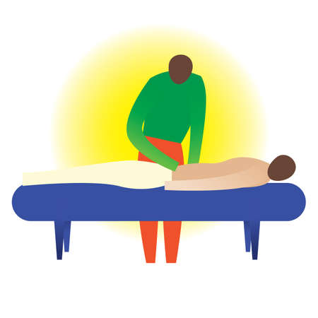 therapist: therapist giving a back massage