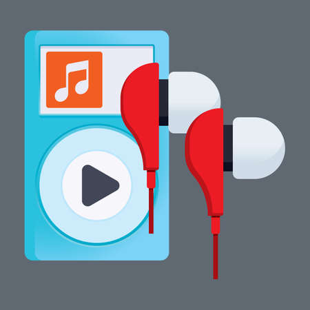ear phones: music player and earphones