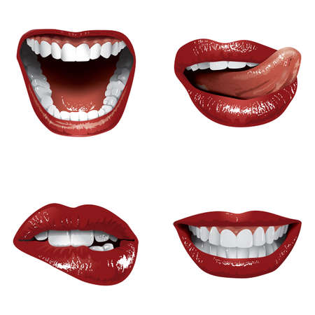 mouth and lips gesture collection