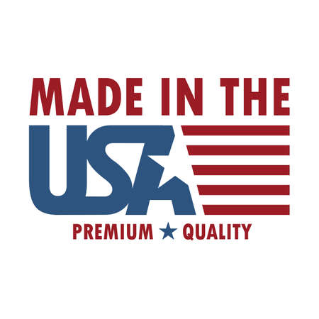 made in usa label Vectores