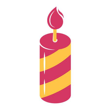 burning candle: burning candle Illustration