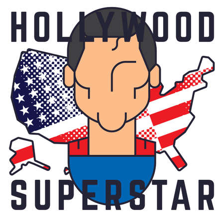 superstar: hollywood superstar poster Illustration