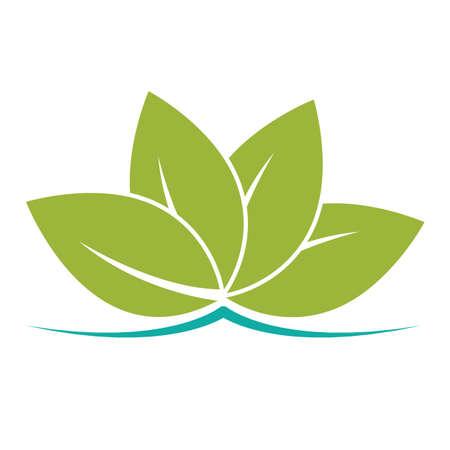 cretive: leaves icon Illustration