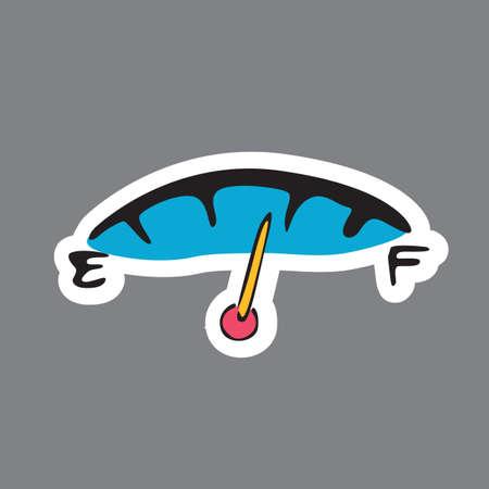 fuel gauge: car fuel gauge meter