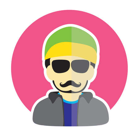 beanie: man avatar Illustration