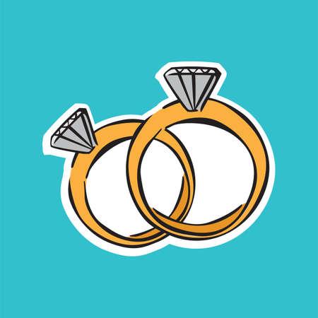wedding: wedding rings Illustration