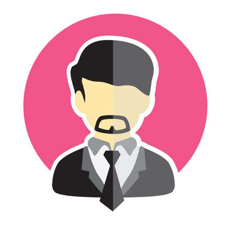 man with a goatee: man avatar Illustration