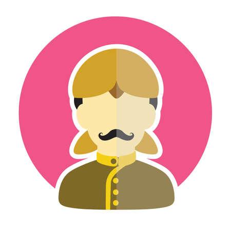 sikh: sikh man Illustration
