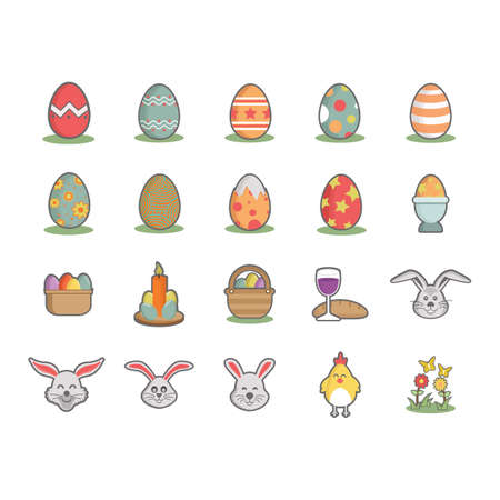 plant stand: collection of easter eggs