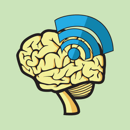 connectivity concept: brain connectivity concept
