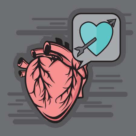 to pierce: heart with an arrow pierced through