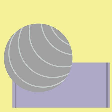exercise ball: exercise ball on yoga mat