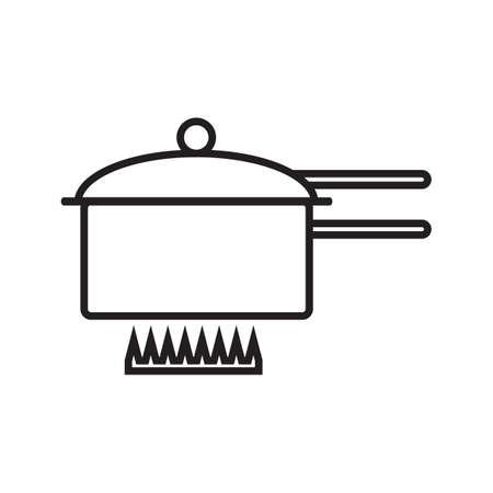 saucepan: cooking saucepan on stove