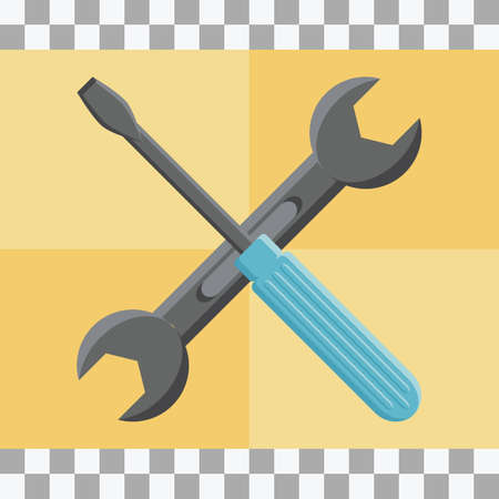 screw driver: screw driver and spanner