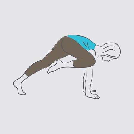 variation: girl practising yoga in plank pose variation
