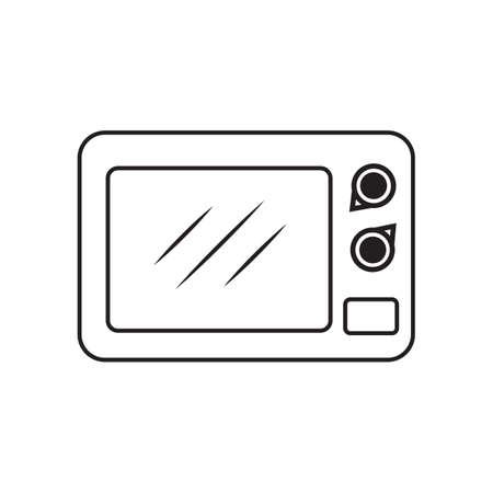 microondas: horno de microondas Vectores