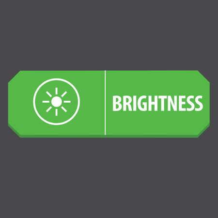 brightness: brightness web button
