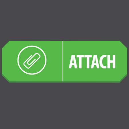 attach: Botón del Web de adjuntar Vectores