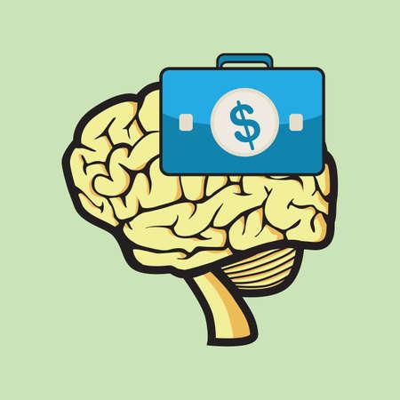 minded: business minded concept Illustration