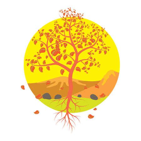 fallen tree: tree with fallen leaves